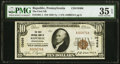 National Bank Notes:Pennsylvania, Republic, PA - $10 1929 Ty. 1 The First NB Ch. # 10466 PMG Choice Very Fine 35 EPQ.. ...