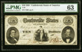 Confederate Notes:1861 Issues, T25 $10 1861 PF-2 Cr. 169 PMG Choice Uncirculated 63.. ...