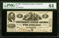 T42 $2 1862 PF-2 Cr. 335 PMG Choice Uncirculated 64
