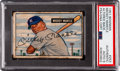 Baseball Cards:Singles (1950-1959), Signed 1951 Bowman Mickey Mantle #253 PSA/DNA Auto Mint 9....