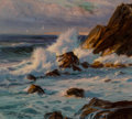 Paintings:Modern (1900-1949), Constantin Alexandrovitch Westchiloff (Russian, 1877-1945). Seascape. Oil on canvas. 21 x 19 inches (53.3 x 48.3 cm). Si...