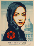 Prints & Multiples:Contemporary, Shepard Fairey (b. 1970). Untitled, from We The Future, 2018. Screenprint in colors on speckled cream paper. 24 x 18...
