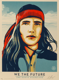 Shepard Fairey (b. 1970) Untitled, from We The Future, 2018 Screenprint in colors on spec