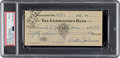 Baseball Collectibles:Others, 1939 Walter Johnson Signed Check, PSA/DNA Mint 9. ...
