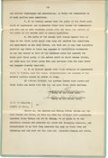 Football Collectibles:Others, 1925 Jim Thorpe Signed Divorce Document. ...