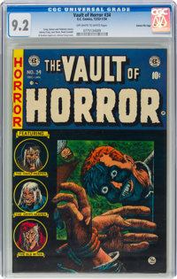 Vault of Horror #34 Gaines File Pedigree 5/12 (EC, 1954) CGC NM- 9.2 Off-white to white pages