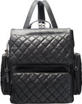 """Luxury Accessories:Bags, Chanel Black Aged Quilted Lambskin Leather """"Casual Rock"""" Large Backpack with Ruthenium Hardware. Condition: 2. 12"""" Wid..."""