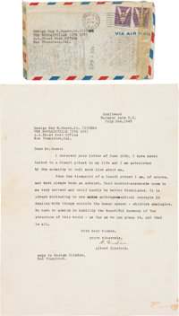 Albert Einstein Typed Letter Discussing God, Signed ... (Total: 2)