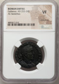 Ancients:Roman Imperial, Ancients: Gallienus, joint reign (AD 253-268). AE sestertius (28mm,1h). NGC VF, smoothing....