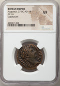 Ancients:Roman Imperial, Ancients: Augustus (27 BC-AD 14). AE as (25mm, 4h). NGC VF....