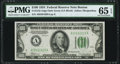 Fr. 2152-A $100 1934 Dark Green Seal Federal Reserve Note. PMG Gem Uncirculated 65 EPQ