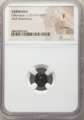 Ancients:Byzantine, Ancients: Odovacar, as King of Italy (AD 476-493). AE nummus (11mm, 5h). NGC Fine, flan flaw....
