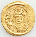 Ancients:Byzantine, Ancients: Justinian I the Great (AD 527-565). AV solidus (20mm, 4.44 gm, 7h). VF....