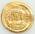 Ancients:Byzantine, Ancients: Justinian I the Great (AD 527-565). AV solidus (21mm, 4.52 gm, 6h). AU, wavy flan....