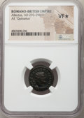 Ancients:Roman Imperial, Ancients: Allectus, Romano-British Empire (AD 293-296/7). AEquinarius (18mm, 7h). NGC VF★ . ...
