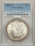 1885-O $1 MS66+ PCGS. PCGS Population: (2839/373 and 306/43+). NGC Census: (4702/575 and 124/21+). CDN: $190 Whsle. Bid...