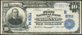 National Bank Notes:Pennsylvania, Midland, PA - $10 1902 Plain Back Fr. 625 The First NB Ch. # (E)8311 Fine.. ...