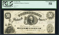 Confederate Notes:1861 Issues, T8 $50 1861 PF-2 Cr. 15 PCGS Choice About New 58.. ...