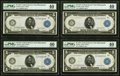 Large Size:Federal Reserve Notes, Fr. 879a $5 1914 Federal Reserve Note Four Consecutive Examples PMG Extremely Fine 40.. ... (Total: 4 notes)