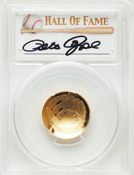 2014-W $5 Baseball Hall Of Fame, Pete Rose, DCAM 70 PCGS