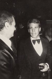 Andy Warhol (American, 1928-1987) Ryan O'Neil and Guest Gelatin silver 9-1/8 x 6-1/8 inches (23.2 x 15.6 cm) Photogr