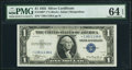 Fr. 1607* $1 1935 Silver Certificate Star. PMG Choice Uncirculated 64 EPQ