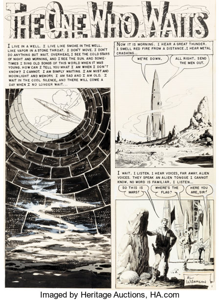 "Al Williamson, Frank Frazetta, and Roy Krenkel Weird Science #19 Complete 7-Page Story ""The One Who Waits"" Origina... (Total: 7 Original Art)"