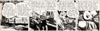 Milton Caniff Terry and the Pirates Daily Comic Strip Dragon Lady Original Art dated 7-13-46 (News Syndicate Co