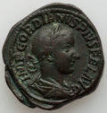 Ancients:Roman Imperial, Ancients: Gordian III (AD 238-244). AE sestertius (31mm, 30.65 gm, 1h). VF....