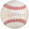 Autographs:Baseballs, Joe DiMaggio Single Signed Baseball, PSA/DNA EX-MT+ 6.5....