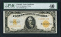 Large Size:Gold Certificates, Fr. 1173 $10 1922 Gold Certificate PMG Extremely Fine 40.. ...