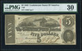 Confederate Notes:1863 Issues, T60 $5 1863 PF-4 Cr. 450 PMG Very Fine 30.. ...