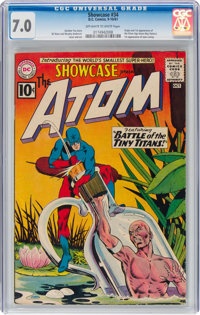 Showcase #34 The Atom (DC, 1961) CGC FN/VF 7.0 Off-white to white pages