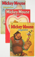 Golden Age (1938-1955):Cartoon Character, Mickey Mouse Magazine V4#1, 5, and 7 Group (K. K. Publications, 1939).... (Total: 3 Comic Books)