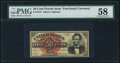 Fractional Currency:Fourth Issue, Fr. 1374 50¢ Fourth Issue Lincoln PMG Choice About Unc 58...