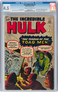 Silver Age (1956-1969):Superhero, The Incredible Hulk #2 (Marvel, 1962) CGC VG+ 4.5 Cream to off-white pages....