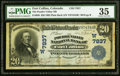 National Bank Notes:Colorado, Fort Collins, CO - $20 1902 Plain Back Fr. 650 The Poudre Valley NB Ch. # (W)7837 PMG Choice Very Fine 35.. ...