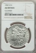 Morgan Dollars: , 1902-S $1 -- Cleaned -- NGC Details. AU. NGC Census: (90/3204). PCGS Population: (169/5482). CDN: $185 Whsle. Bid for probl...