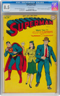 "Golden Age (1938-1955):Superhero, Superman #30 Davis Crippen ('D"" Copy) Pedigree (DC, 1944) CGC VF+8.5 Off-white pages...."