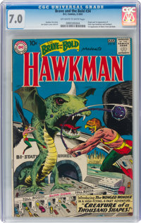 The Brave and the Bold #34 Hawkman (DC, 1961) CGC FN/VF 7.0 Off-white to white pages
