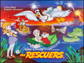 """Movie Posters:Animation, The Rescuers (Walt Disney, 1977). Rolled, Very Fine+. British Quad (30"""" X 40""""). Animation.. ..."""
