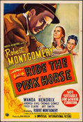 "Movie Posters:Film Noir, Ride the Pink Horse (Universal International, 1947). Very Fine-. Australian One Sheet (27"" X 40""). Film Noir.. ..."