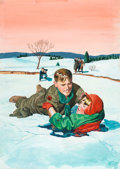 Original Comic Art:Covers, L. B. Cole Best From Boy's Life #2 Cover Painting Original Art (Gilberton, 1958)....