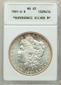 """Morgan Dollars: , 1901-O $1 MS65 ANACS. """"Supersonic Silver $"""". MS65. Mintage 13,320,000. ..."""