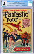 Silver Age (1956-1969):Superhero, Fantastic Four #4 Incomplete (Marvel, 1962) CGC PR 0.5 Off-white pages....