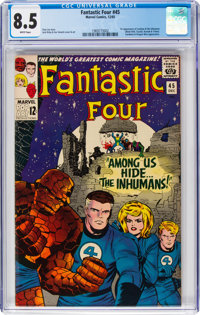 Fantastic Four #45 (Marvel, 1965) CGC VF+ 8.5 White pages