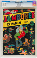 Golden Age (1938-1955):Funny Animal, Jamboree Comics #1 (Round, 1946) CGC VF 8.0 Off-white pages....