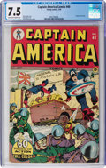 Golden Age (1938-1955):Superhero, Captain America Comics #40 (Timely, 1944) CGC VF- 7.5 Off-white to white pages....