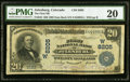 National Bank Notes:Colorado, Julesburg, CO - $20 1902 Date Back Fr. 643 The First NB Ch. # (W)8205 PMG Very Fine 20.. ...