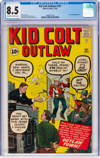 Kid Colt Outlaw #101 (Atlas/Marvel, 1961) CGC VF+ 8.5 Off-white to white pages